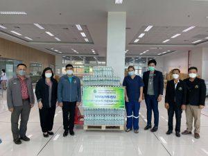 มอบน้ำดื่มจำนวน100แพ็ค ให้กับโรงพยาบาลผู้สูงอายุบางขุนเทียน  (18 ส.ค. 64)
